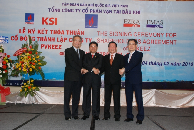 PVTrans to hold The signing Ceremony of Shareholder Agreement for Establishment the Joint Venture to Supply FPSO for Chim Sao Project between PVTRANS – EOCP – EZRA – KEPPEL