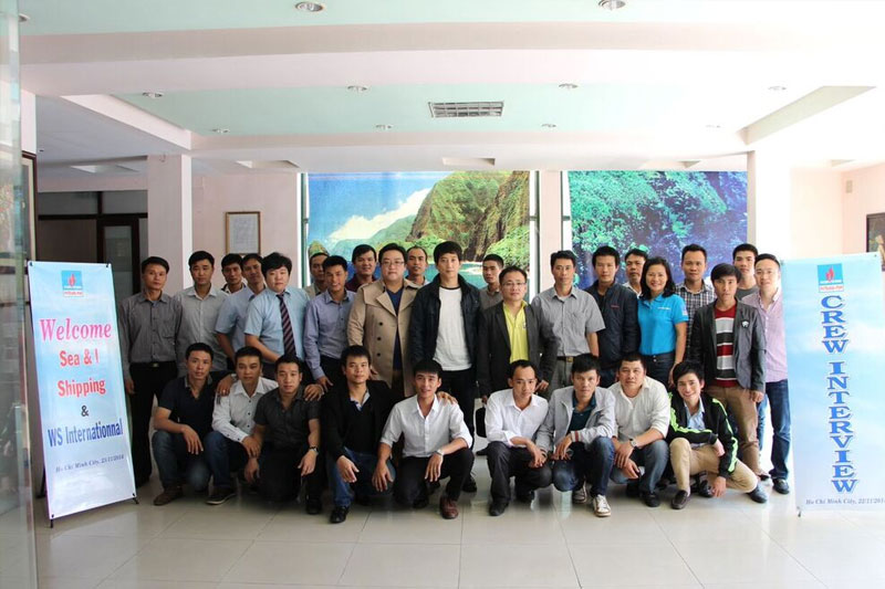 Ship owner interviewed Crews in Hai Phong City